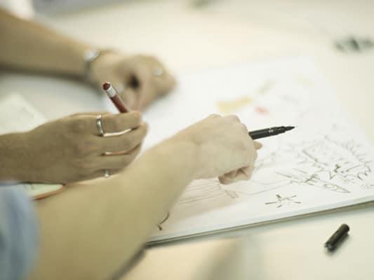 Conception des étudiants graphistes à l'école Garti basée à Neuilly sur Seine