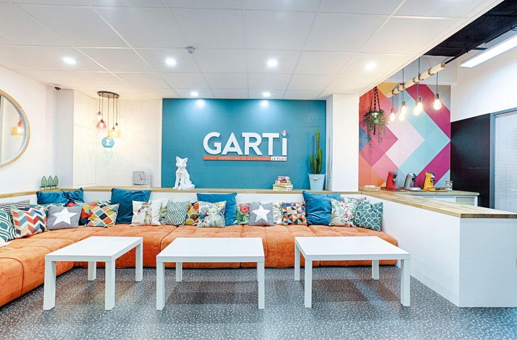L'espace café de l'école de graphisme Garti