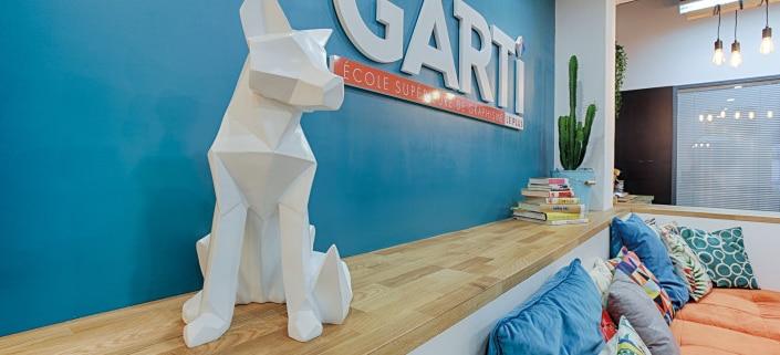 Hall de l'école de graphisme Garti basée à Neuilly sur Seine