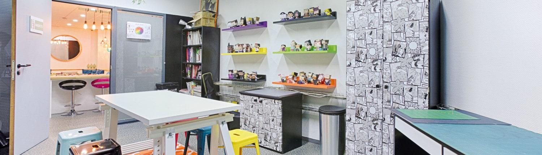 Salle maquette de l'école de graphisme Garti