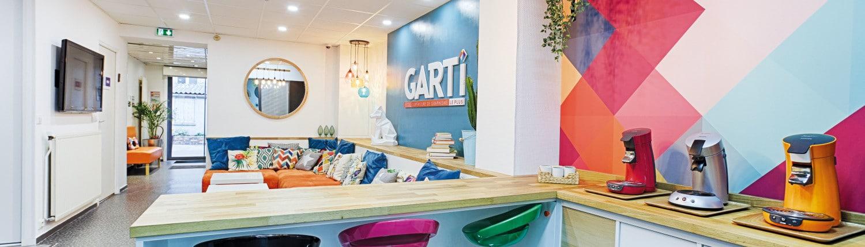Espace café de l'école de graphisme Garti